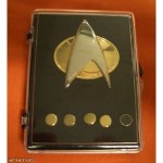 Star Trek TNG Communicator and Rank Pips Set