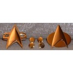 Star Trek TNG and Voyager Communicators and Rank Pin Set